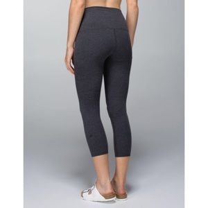 Wunder Under Pant (Roll Down) - Heathered Black